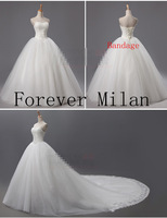 new 2014 designer Limited edition quality wedding dress fashion brief lace  train sweetheart princess wedding dresses