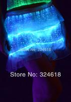 DHL free shipping Led Luminous layered lace skirts Glowing dancing skirt Mini skirt Lace grenadine skirt luminous dance costume