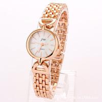 Regal jw premium women's watches wholesale new bracelet watch Korean fashion rose gold small round table