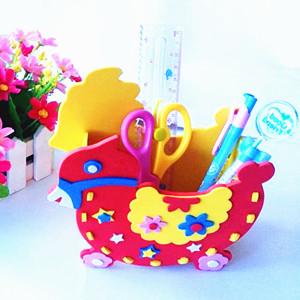 Brinquedos educativos para crianças eva diy pen holder kit de material artesanal diy brinquedo do bebê para 4-6years(China (Mainland))