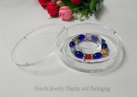 Super Clear Acrylic Jewelry Display Organizer Bracelet Chain Box Ankle  Bangle Storage Box Holder Platistic Casket  Round