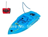 Free shipping + Electronic 2014 New Remote Control Toys Create Toys 3392-1 Waterproof Mini Remote Control Racing Boat (Blue)