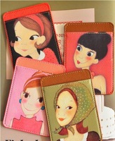 free shipping high quality  fashion Queen youkshimwon PU leather bus card holder business card holder sets clip card holder