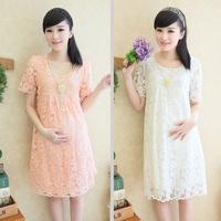 2014 fashion maternity clothing summer maternity one-piece dress summer maternity dress maternity lace dress
