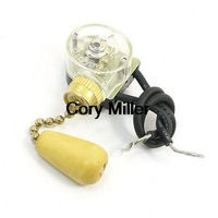 3A 250VAC Momentary Action Ceiling Fan Two Wires Light Pull Chain Switch