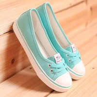 Summer breathable 2014 belle is older shallow mouth canvas shoes female low casual female shoes skateboarding shoes single shoes