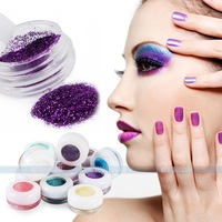 12 Colors Makeup Loose Powder Glitter Eyeshadow Eye Shadow Face Body Cosmetic  for free shipping 052506