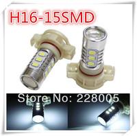 10pcs/lot White 360 degree shine 15 SMD 5730 High Power 5202 H16 LED Bulbs For Fog Light or Daytime Running Lights Free Shipping