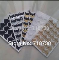 Min Order is $5, (1 Lot=480 Pcs Corner Stickers) DIY Scrapbook Paper Photo Albums Frame Picture Decoration Corner Stickers