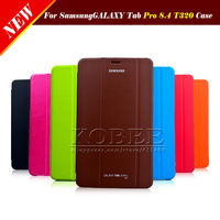 Original 1:1 Case For Samsung Galaxy Tab Pro 8.4 T320,Slim Official 1:1 Stand PU Leather Tablet Case Cover For Samsung T320 1PCS