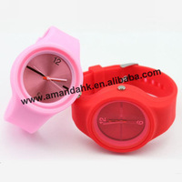 100pcs/lot,Fashion Candy Jelly Womens Dress watch Children Silicon Promotional Watch Ladies Students sport wrist watch