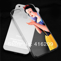 For iphone5 5s case Transparent Snow White Hand grasp the logo cell phone cases covers to i phone 5 5s