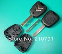 free shipping car key Citroen C3 2 button remote key shell and citroen remote key case