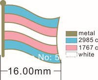 350pcs/lot, free shipping Trans Pride flag lapel pins,metal art pins,holiday giveaway gifts