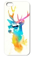 1PC Cool Red Deer hard cover case for Iphone 4 4S 5 5S free shipping