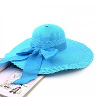 2014 New Hot Selling Women's Summer Bowknot Sunbonnet Sea Beach Hat Outdoor Cycling Sunhat Cap Straw Hats Free Shipping