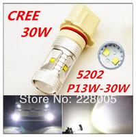 2pcs/lot 2014 Newest H11 30W Xenon White P13W CREE High Power Fog Light Driving Headlight DRL daytime running lights