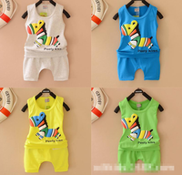 5 color,2pcs set=vest+Harem Pants,baby's/boy's/girls summer lovely colorful horse kid sport set,factory direct sale,freeshipping