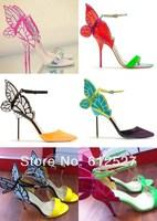 Newest 2014 summer name brand designer butterfly sandals women high heels sweet grils shoes wedding pumps