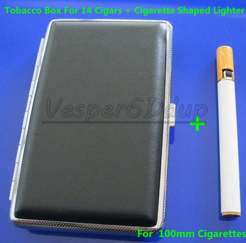 Элегантный черный сигарет жесткие коробки случае