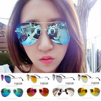 NO1 Sunglasses 2014 Hot Women  Coating Reflective Rimless Sunglasses Designed Glasses Mirror Pilot Men Frameless Sunglasses