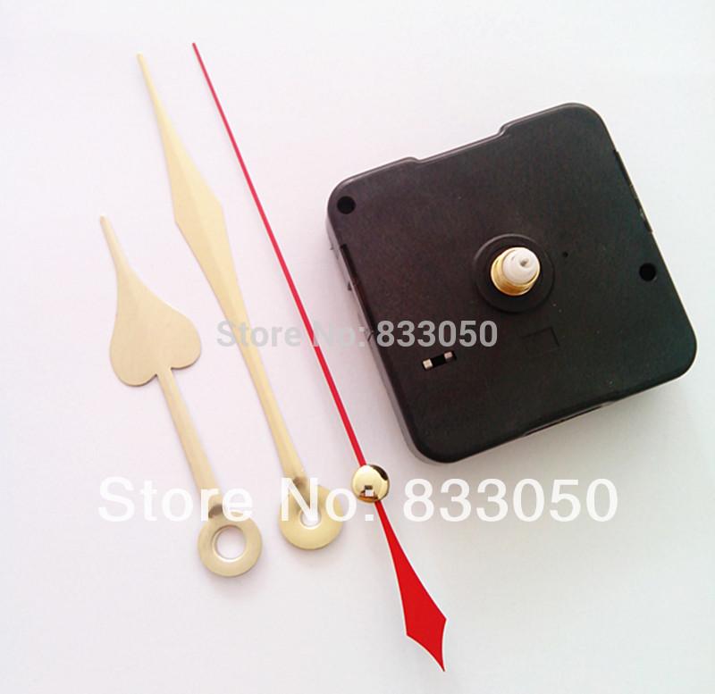 1000PCS Quartz Clock Movements Continuous Sweep Mute No Tic DIY Heart Shape Hands(China (Mainland))