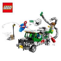Free Shipping NEW Original educational brand lego Blocks toys 76015 super hero series Doc Ock Truck Heist  237PCS for Gift