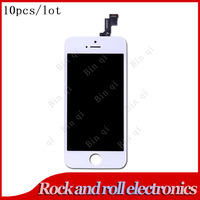 10PCS DHL Free Original For iPhone 5S LCD Display With Touch Screen Frame Digitizer Replacement No Dead Pixel