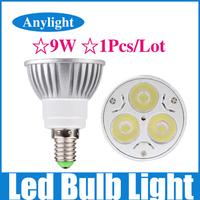 9W E14 dimmable 85-265v (110v/220v) CE Warm/Pure/Cold/White High Power LED Lamp/Spot lighting WSP04