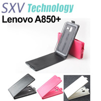Free shipping Stylish flip case for A850+ Lenovo Octa Core mobile phone Black / White / Pink