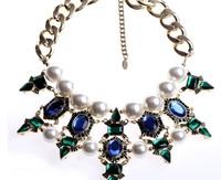 New Top Fasion Freeshipping Resin Z Fashion Pendant Choker Collar Statement Necklace 2014 Women Jewerly Matching Earring Xn031