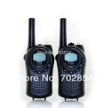 black T-668 mini pocket PMR walkie talkie UHF 462MHz walkie talkie 2 pcs/lot