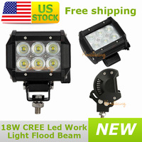 10x 4WD ATV Cree LED Driving light 4x4 Van Camper Pickup Off-road 6x3W 12V/24V UTV Dual row Car AWD led Work light 18W Vehicle
