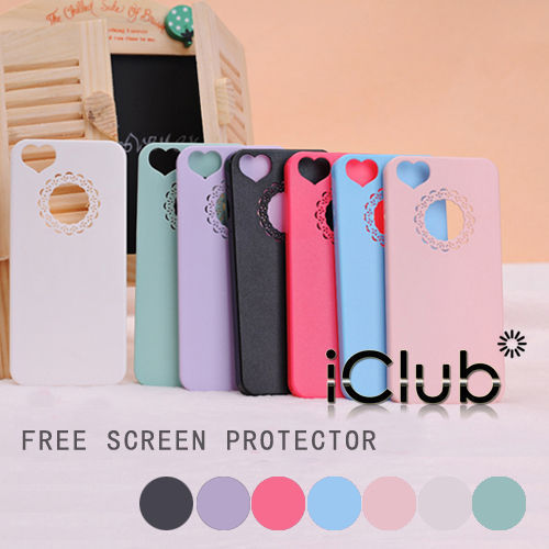 ULTRA THIN SLIM STYLISH HEART LOVE HARD CASE COVER FOR IPHONE 4G 4S +SCREEN FILM(China (Mainland))