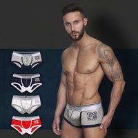 Top Quality Men boxers (PH1221) 4pcs/lot Pink Hero Trendy Fashion Underwear Cotton Boxer Shorts Trunk Wholesle free shipping