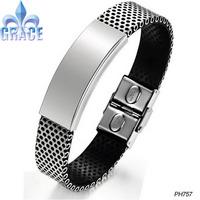 FASHION JEWELRY Stainless Steel Bangle Men Bracelet New Arrivel X-Mas Gift Free shipping
