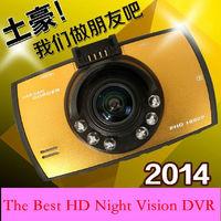Original High quality Best HD Night Vision Camera Car DVR 170 degree 3.0 inch HD LCD 1080P G-Sensor Recorder Video Free Shipping