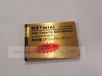 wholesale 5 pcs/lots New 2680mA High Capacity Gold Replacement Li-ion Battery BL-4D BL4D For NOKIA N97 MINI E5 E7 N8 702T T7