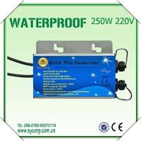 250w 220v dc to ac inverter,3 phase grid tie inverter,IP65 Waterproof Wifi Communication micro inverter