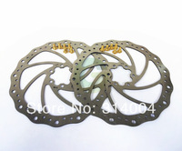 2 x 180mm Gold Disc Brake Rotor for SHIMANO AVID 6 Bolt IS