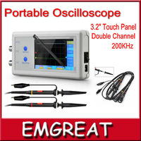 New Oscilloscope Portable Digital Oscilloscope D602 200KHz Double Channel & 3.2 Inch LCD+Touch Panel Multi-function P0013503