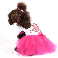 New Dog Princess Dress Lace Bowknot Pet Dog Puppy Dress Pet Clothes New Free shipping&DropShipping