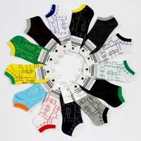 Four seasons sock fashion 100% cotton comfortable low thin lovers socks all-match multicolour