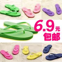 2014 summer flat sandals flip flops lovers male Women included angle slip-resistant slippers
