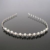 Free Shipping 6pcs Bridal Pearl Hairband Woman Girl Headband With Crystal Tiaras Wedding Hair Accessories