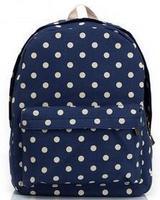 Rucksack Canvas printing backpack polka dot lace bag student school bag children gift backpack Japanese style printing knapsack