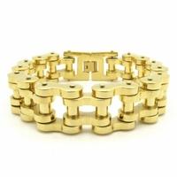 Bracelet Men's Accessories, 22mm Huge Heavy Motor Bike Chain Motorcycle Chain Bracelet, 2014 Fashion Men Gold Jewelry