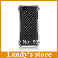 2014 slim dropproof metal aluminum Camouflage Carbon Fiber sector 5-cf case for iphone5 case for iphone 5 5s