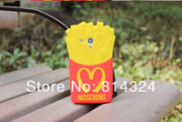 Factory Price ! 3D Cute McDonald's 3D French Fries Chips Soft Silicone Case Cover for Samsung Galaxy S3 mini i8190