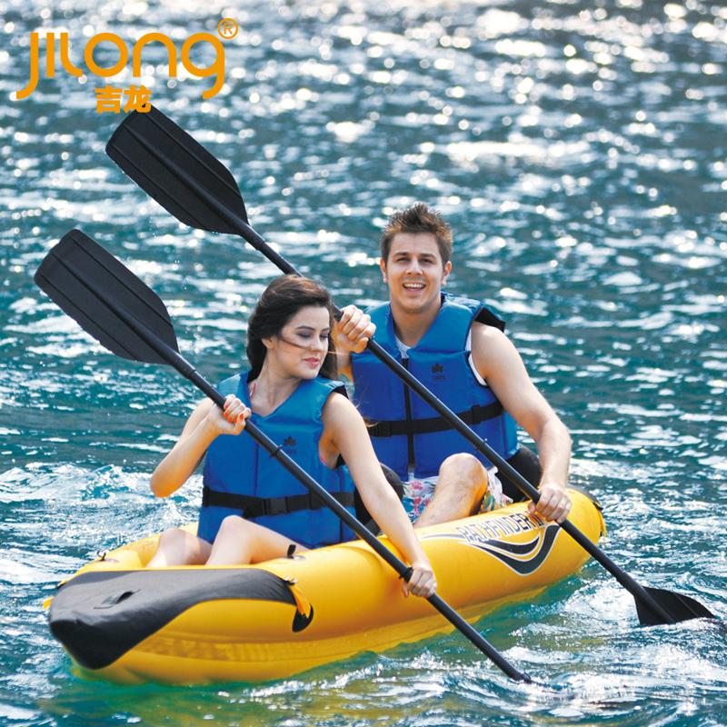 Jilong pathfinder ii double canoe inflatable fishing boat rubber boat(China (Mainland))